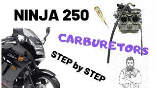 Kawasaki Ninja 250 Cleaning the carburetors and final installation