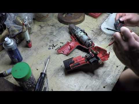 Milwaukee cordless drill repair attempt