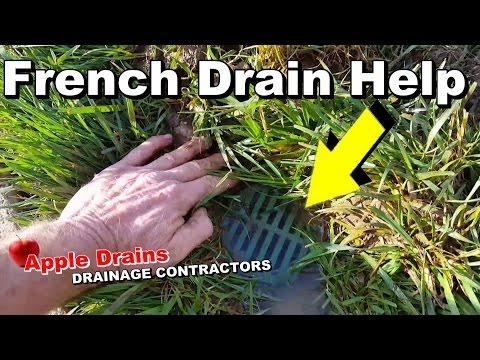 Monday Maintenance Day, French Drain Help.