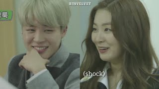 BTS Jimin want to sit next to Red Velvet Seulgi [FANMADE]