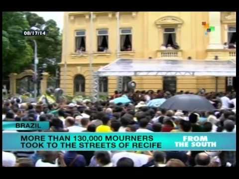 130,000 in Recife mourn death of Brazilian candidate