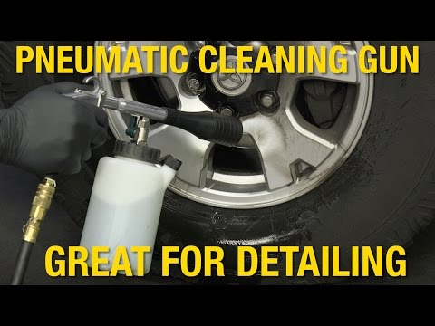 Clean Wheels , Interiors & Engine Bays in No Time! Pneumatic Cleaning Gun - Eastwood