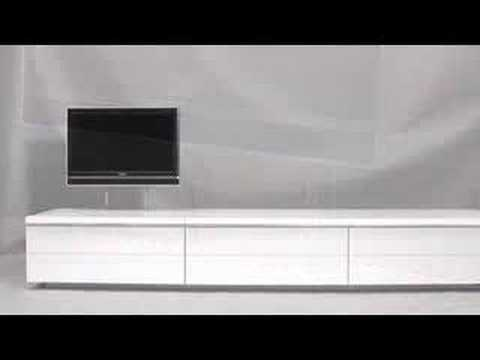 Design tv meubel met lcd tv lift, Klink & Osse B.V. - YouTube