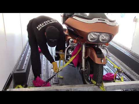 HOW TO PROPERLY TIE DOWN A MOTORCYCLE