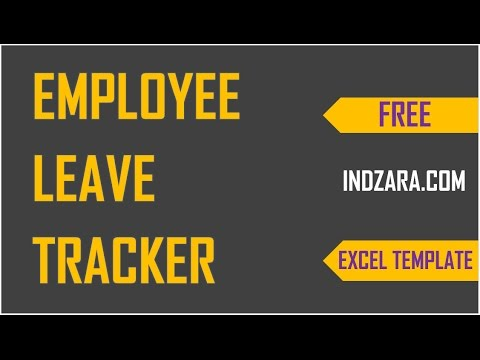 How  to track vacations in Excel - Employee Leave Tracker  Excel Template - Demo