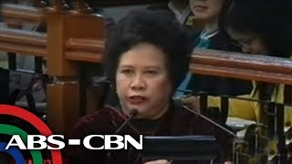 Santiago to Diaz: You're a graduate of Ateneo Law. Why am I not impressed with your testimony?