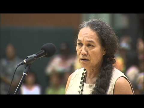 Mililani Trask - Dept. of Interior hearing in Keaukaha (July 2, 2014)