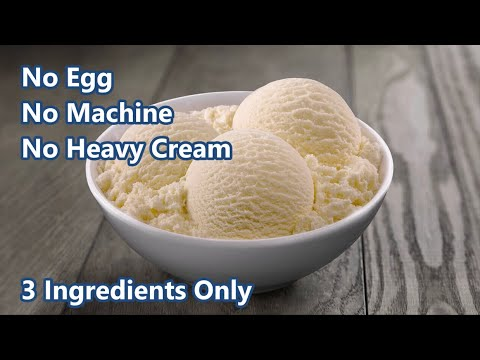 Homemade Vanilla Ice Cream Recipe | 3 Ingredients Recipe | No Eggs | No Ice Cream Machine