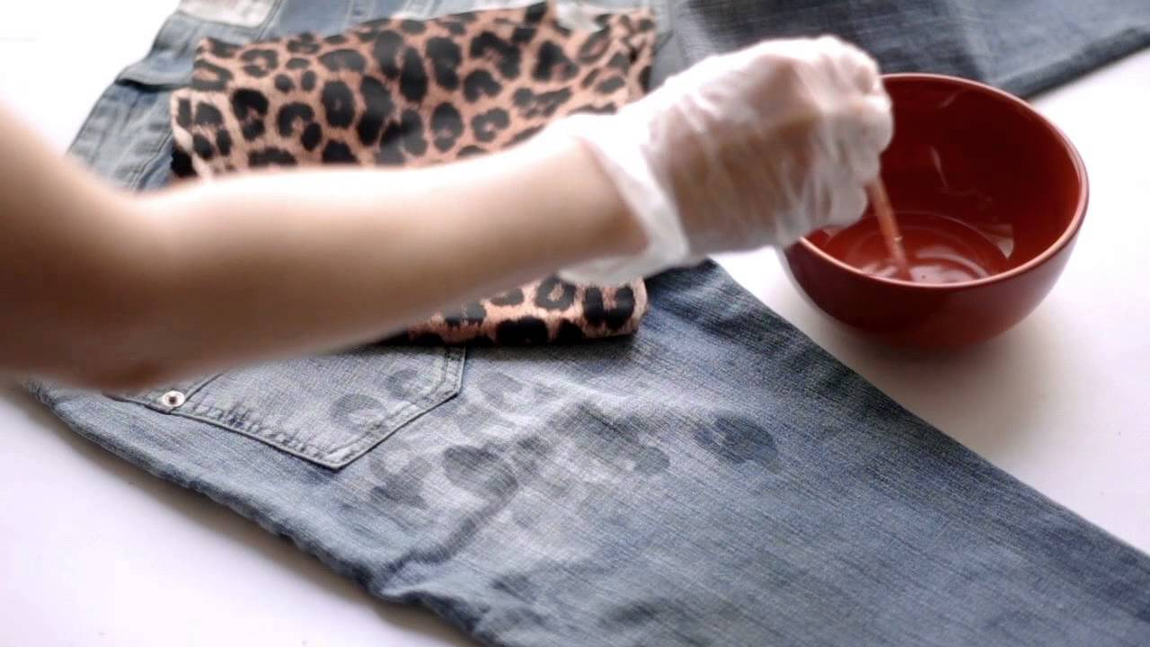 diy bleach patterned jeans video tutorial - youtube