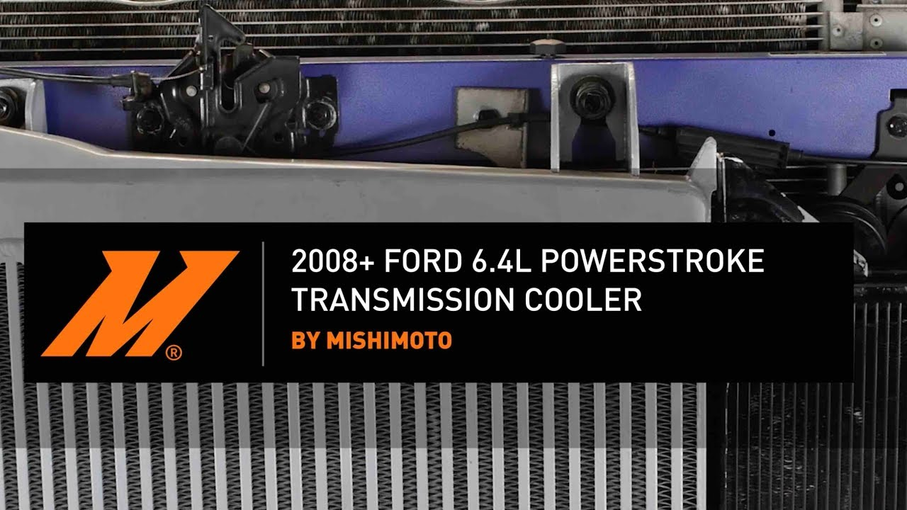 2008 2010 ford 6 4l powerstroke transmission cooler installation guide by mishimoto [ 1280 x 720 Pixel ]