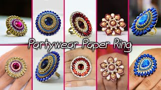 5 easy Party wear Paper ring Design | DIY | 5 min Craft | Hand made jewelry | Art with Creativity
