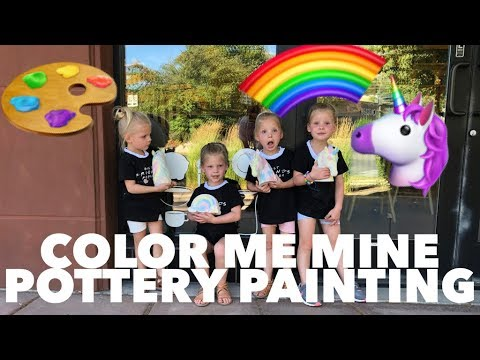 QUADRUPLETS First Time At COLOR ME Mine-Rainbows And UNICORNS