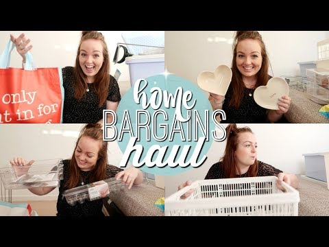 HOME BARGAINS HAUL 2018 | ORGANISATION, STORAGE & CLEANING! 💡 | Brogan Tate