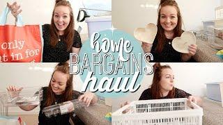 HOME BARGAINS HAUL 2018 | ORGANISATION, STORAGE & CLEANING! 💡 | Brogan Tate
