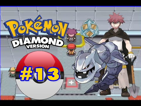 Pokemon Diamond - Part 13 - Canalave City Gym Leader Byron!