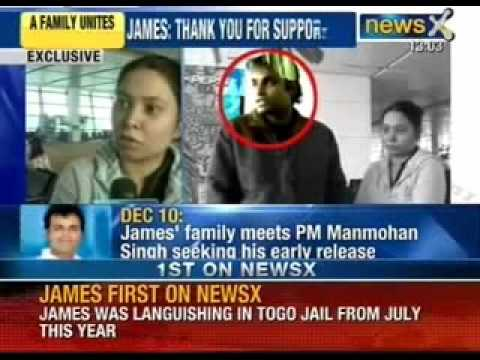 Captain Sunil James reunites with family at Delhi airport - NewsX
