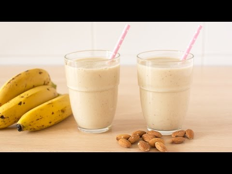 Batido de Plátano, Avena y Almendras Para Adelgazar