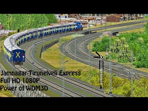 *Power of WDM3D* | MSTS Indian Railways Jamnagar-Tirunelveli Express