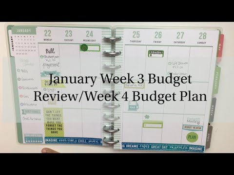 January Week 3 Budget Review/Week 4 Budget Plan