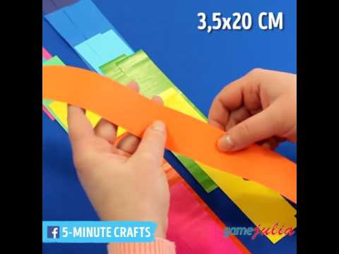 How to make a origami rainbow paper snake DIY easy craft video for kids