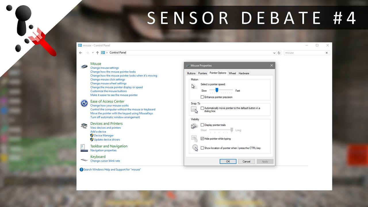 how to change mouse sensitivity on windows 1 0