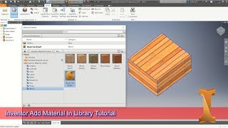 How To Add Material In Inventor Library