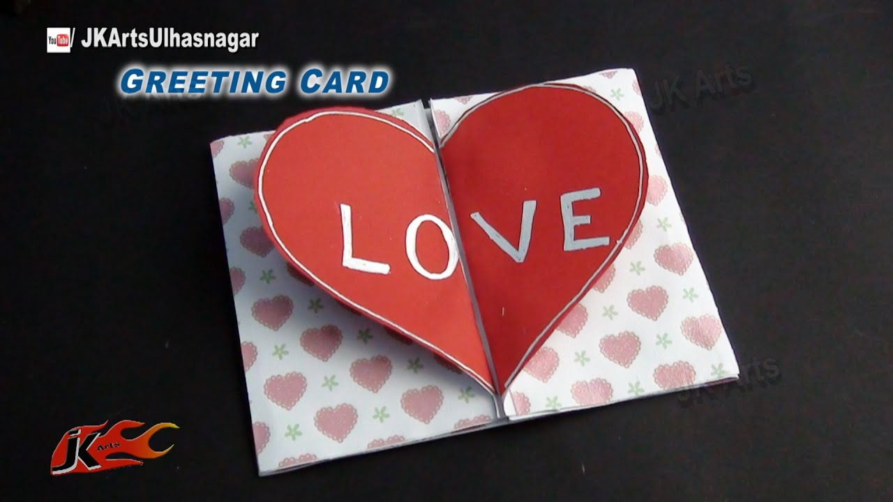 Diy love heart greeting card how to make valentines day greeting diy love heart greeting card how to make valentines day greeting card jk arts 817 youtube m4hsunfo
