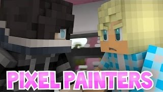 aphmau   zane aphmau and garroth s friendship in pixel painters roleplay minigames