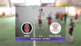 Обзор матча Spirit 4 4 Tech United Турнир по мини футболу в Киеве