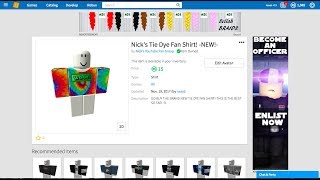 NEW TIE DYE MERCH! -ROBLOX Clone Tycoon
