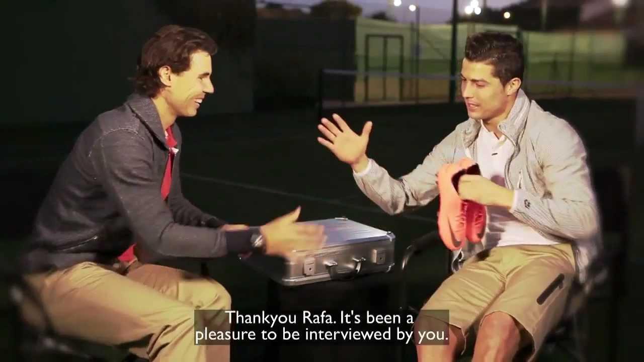 580ed69aa Rafa Nadal meets Cristiano Ronaldo - YouTube