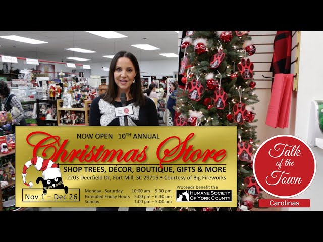 The 2019 Christmas Store for The Humane Society Of York Co Is Open