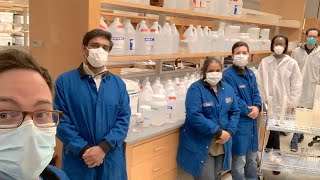 GSBS students make 130 gallons of hand sanitizer