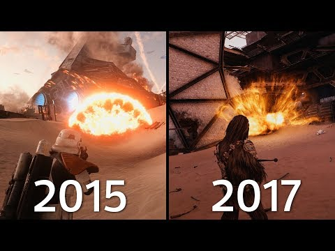 EXPLOSIONS In Battlefront 1 (2015) Vs Battlefront II (2017) Graphics Comparison