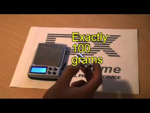 Scale Calibration Weights >> Digital Scale Calibration Weight (100 grams) - YouTube