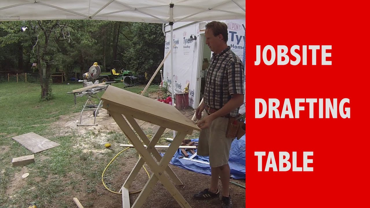 Jobsite Drafting Table Plan YouTube
