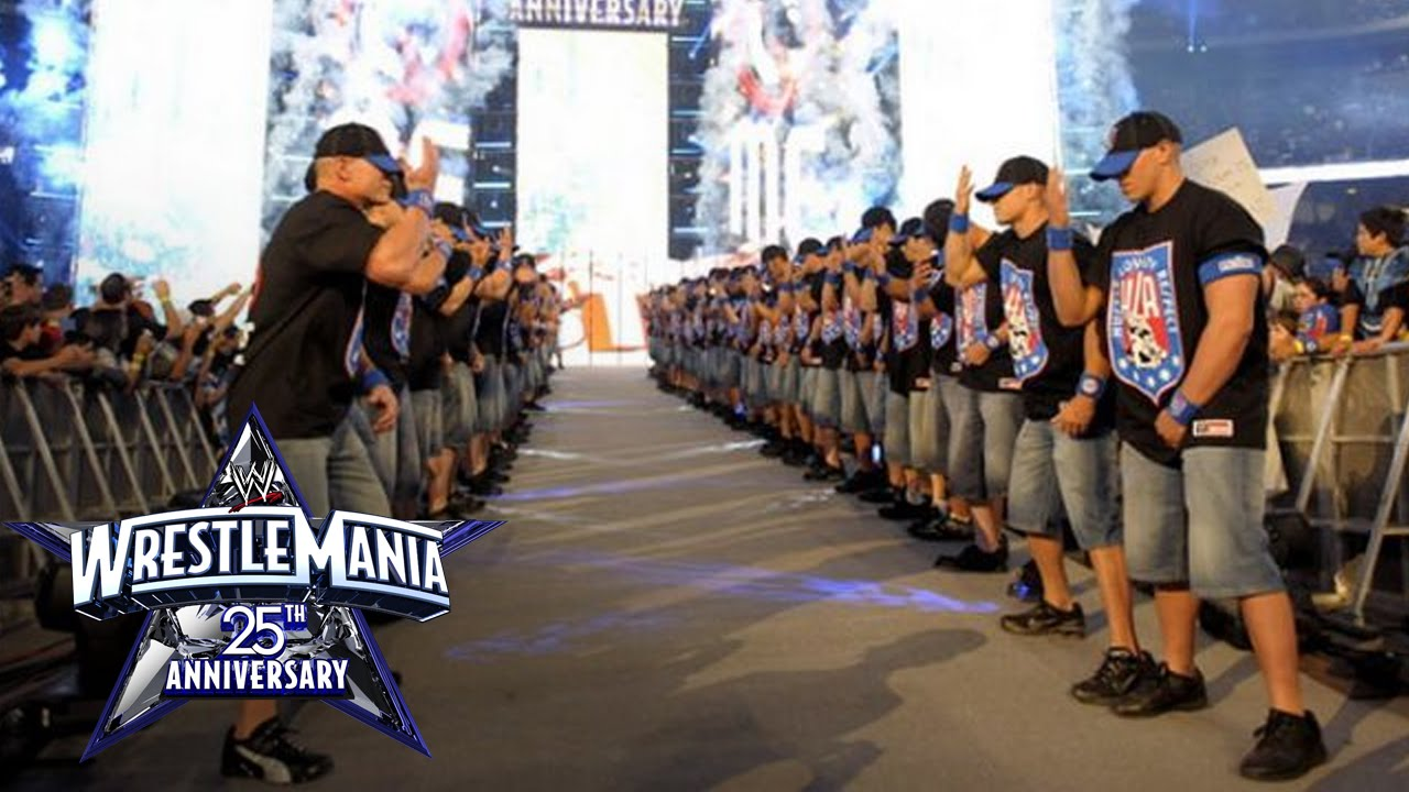 Download An army of John Cenas make their WrestleMania entrance: WrestleMania 25
