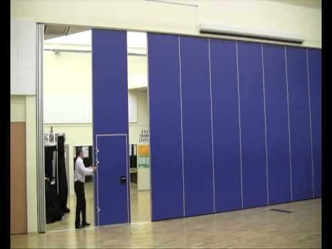 Accordial Wall Systems  Premier Acoustic Movable Wall   YouTube