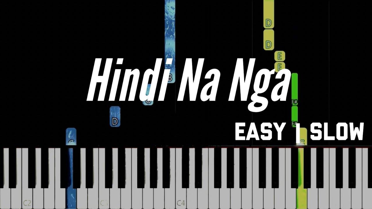 Hindi Na Nga - This Band | Easy Slow Piano Tutorial