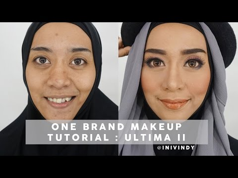 One Brand Makeup Tutorial : Ultima II Timeless Beauty | Tutorial Makeup Pesta | Inivindy