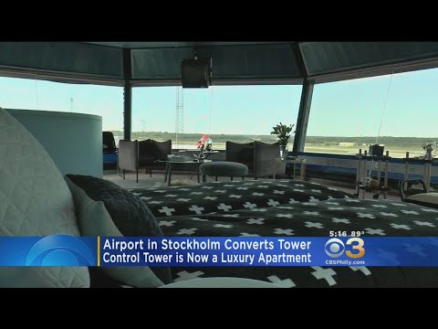 Stockholm Airport Converts Control Tower Into Luxury Apartment
