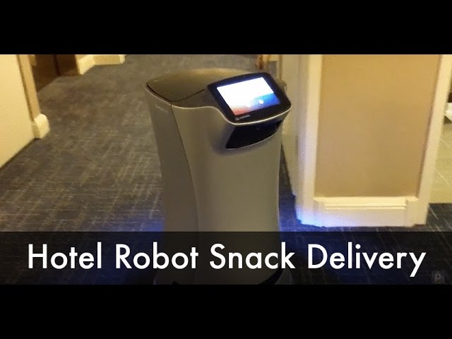 Hotel Room Service Robot Delivering Snack