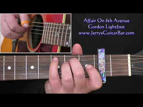 Gordon Lightfoot Affair On 8th Avenue Lesson (intro Only)