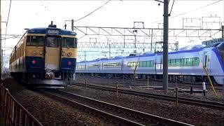 しなの鉄道115系横須賀色と出会い松本駅へ、E353系回送列車。