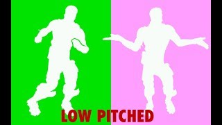 Fortnite Emotes that Sound Better Low Pitched!! (Living Large, Twist, True Heart and More!)