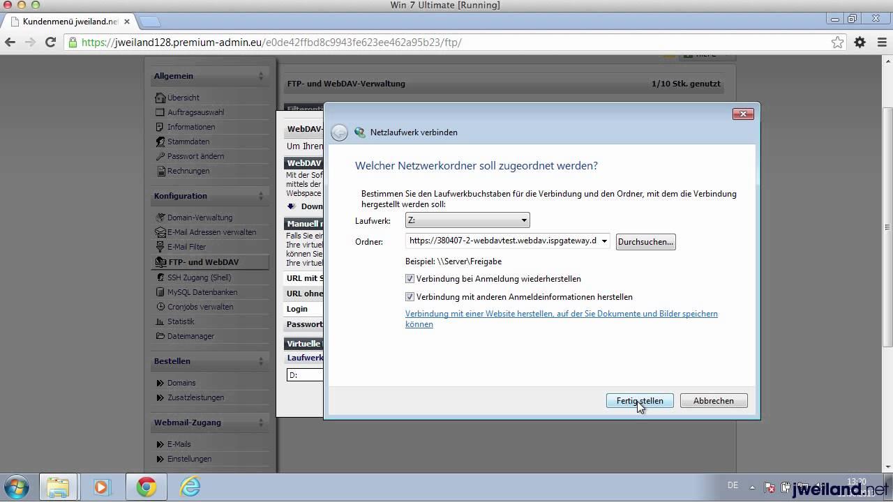 WebDAV einrichten und nutzen
