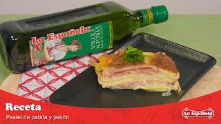 Pastel de patata, jamón y queso