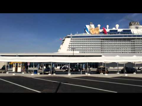'Quantum of the Seas' cruise ship docked in Bayonne