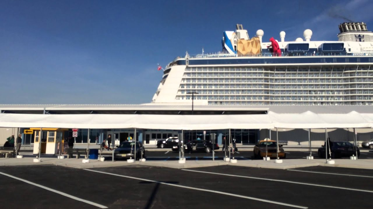 Quantum Of The Seas Cruise Ship Docked In Bayonne YouTube - Bayonne cruise ship terminal address
