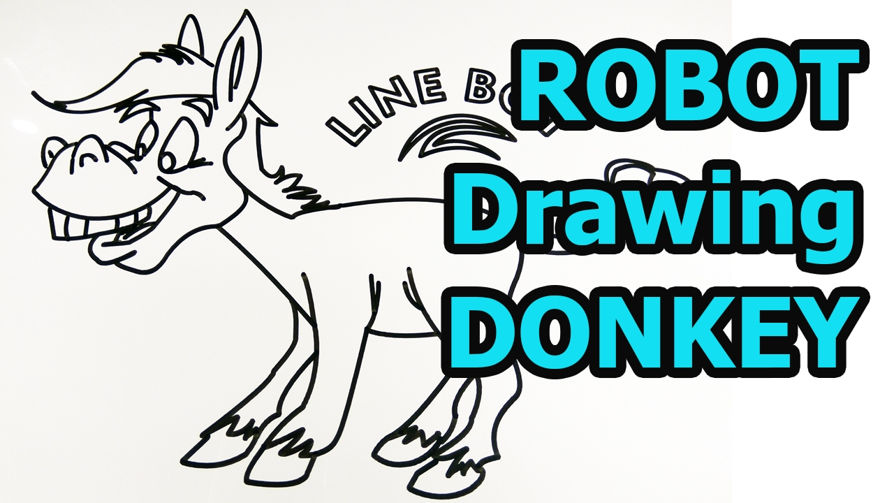 How To Draw Donkey Quick Easy Drawing Animals For Kids Youtube